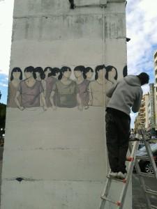 street artist  argentina Hyuro foto di lara artone