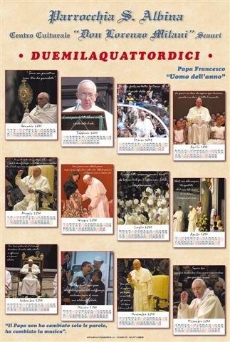 calendario papa francesco